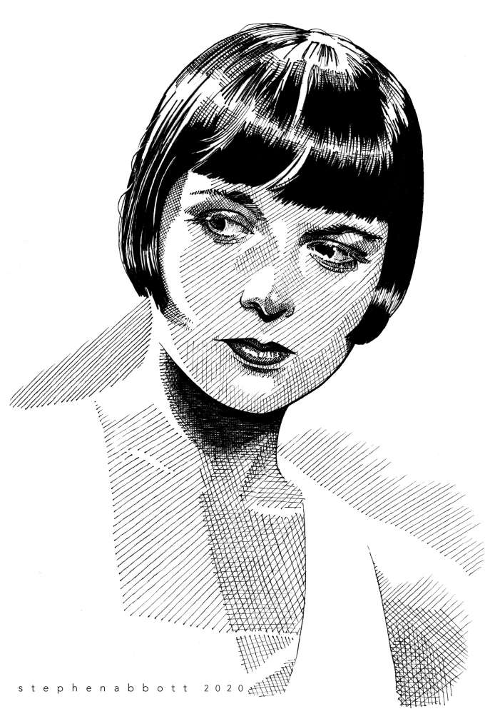 Louise Brooks by Stefanosart